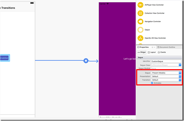 Configure the storyboard segue to use Present Modal and leave the Presentation and Transition to Default.
