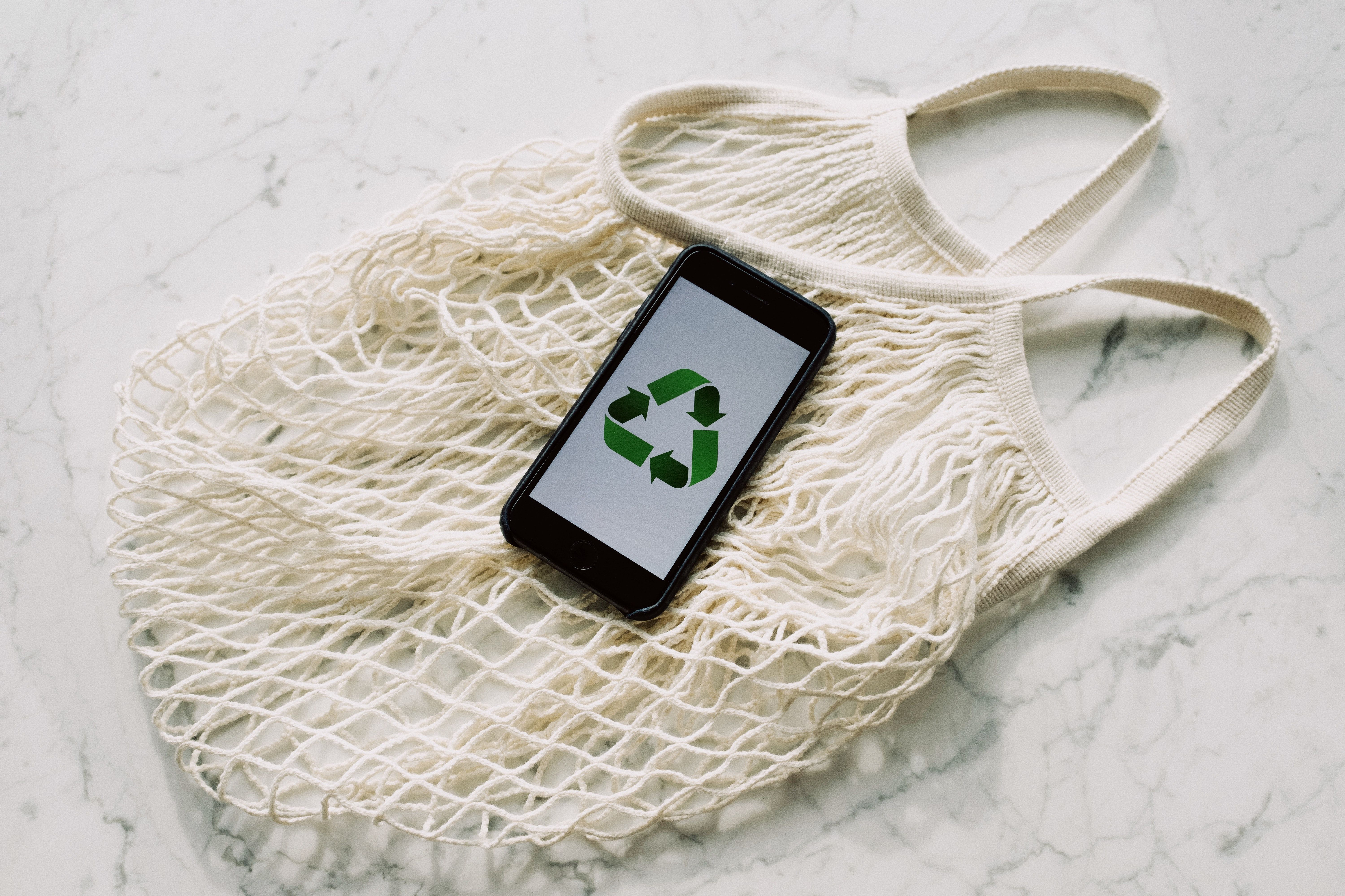 Image showing a smartphone with a recycle symbol on it