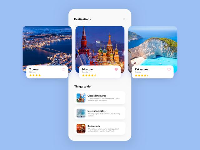 App design as shown on dribbble