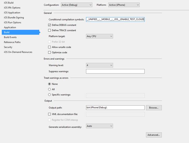 iOSProjectConfiguration