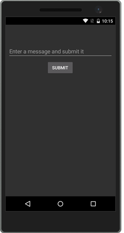 Screenshot of app that is going to be tested.